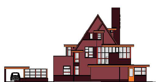 woonhuis-gevels-kleur---3D-View---kleur-achtergevel