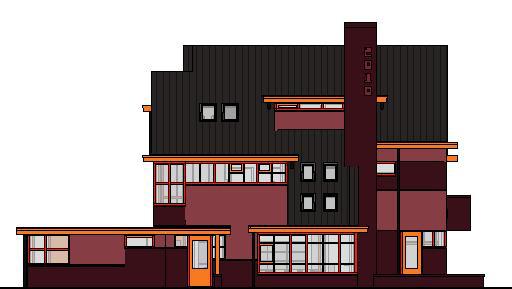 woonhuis-gevels-kleur---3D-View---kleur-linkergevel