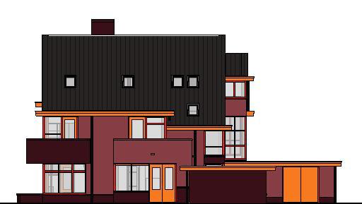woonhuis-gevels-kleur---3D-View---kleur-rechtergevel