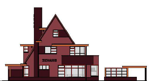 woonhuis-gevels-kleur---3D-View---kleur-voorgevel
